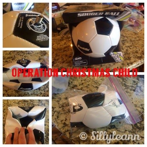Idea for Operation Christmas Child - Give a Soccer Ball