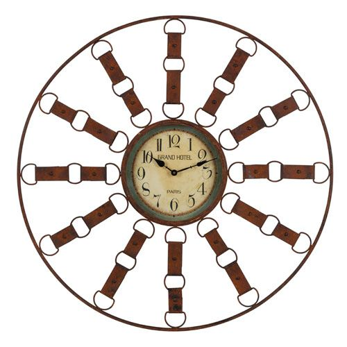 Thurston Distressed Brown Clock