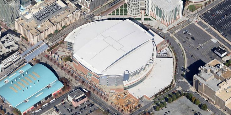 Time Warner Cable Arena - Charlotte Bobcats - Aerial Views of NBA Arenas