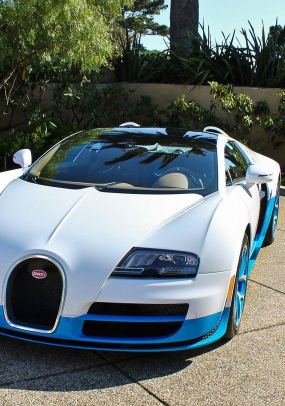 ♂ Blue & white car Bugatti Veyron #ecogentleman #automotive #transportation #wheels