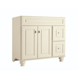 Diamond Britwell Cream Traditional Birch Bathroom Vanity (Common: 36-in x 21-in; Actual: 36-in x 21-in)