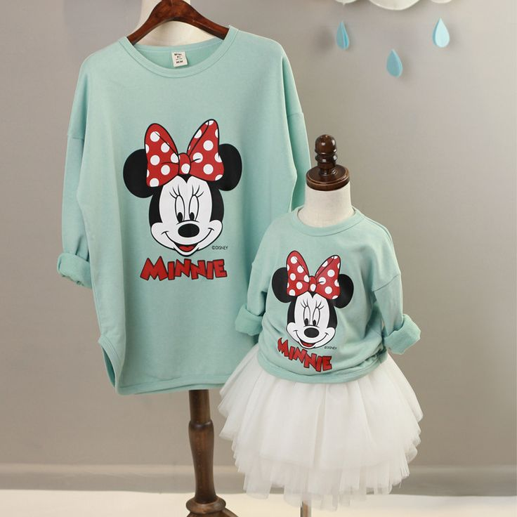 Aliexpress.com : Buy Fashion Matching Mother Daughter Clothes Family Outfits Cartoon Minnie Mouse 100%Cotton MotherAndDaughter Hoodies FamilyClothing from Reliable hoodies toddlers suppliers on MAMA-HUANG