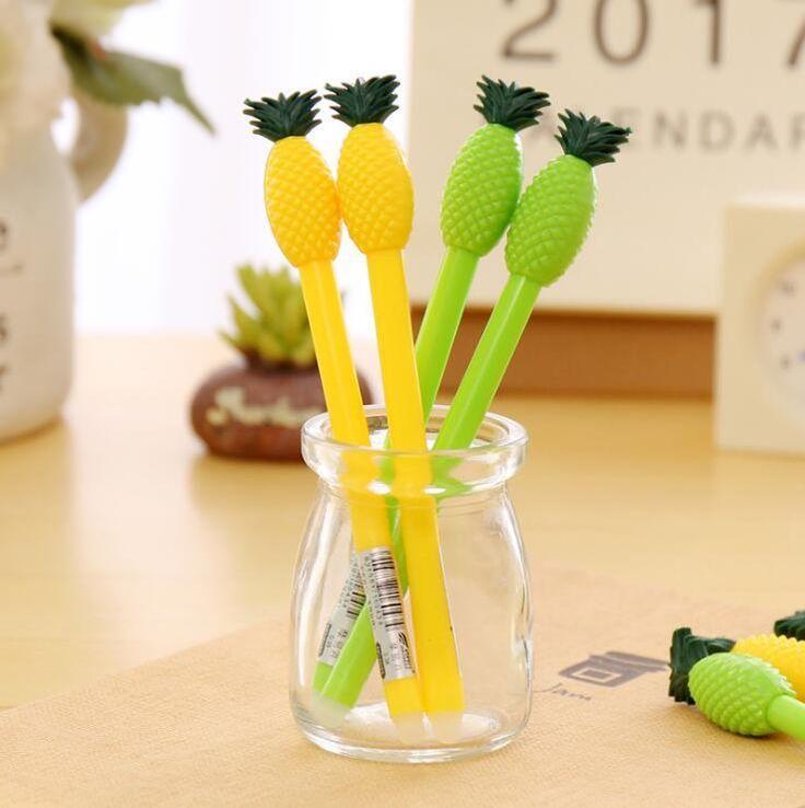 4 pc pineapple erasable gel pen set