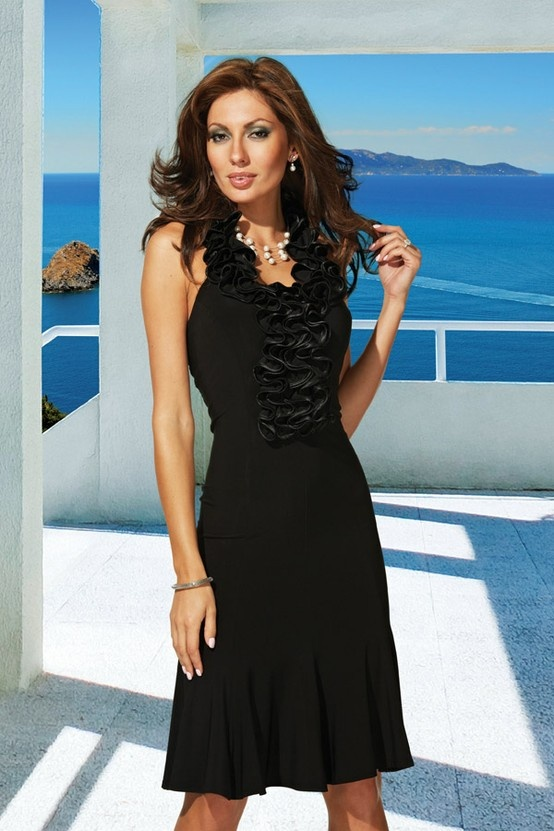 @FrankLymanD fresh take on the little black dress from #FrankLyman Design 2013 Spring collection! #fashion #style