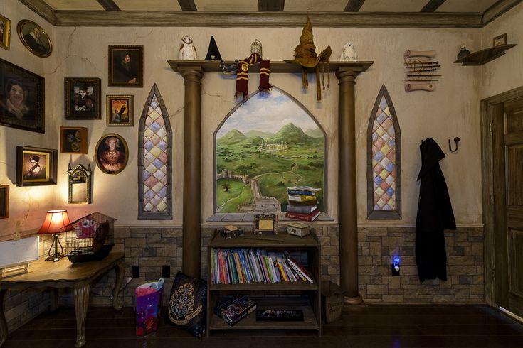76 besten harry potter bedroom bilder auf pinterest harry potter zeug schlafzimmer ideen und. Black Bedroom Furniture Sets. Home Design Ideas