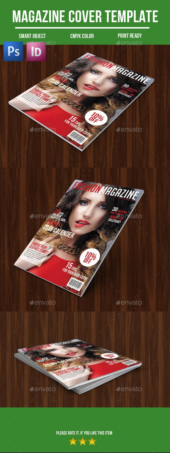 Fashion Magazine Cover — Photoshop PSD #beautiful #size • Available here → https://graphicriver.net/item/fashion-magazine-cover/9862697?ref=pxcr