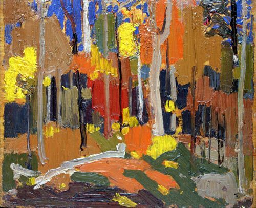 Tom Thomson Autumn Colour, Fall 1915