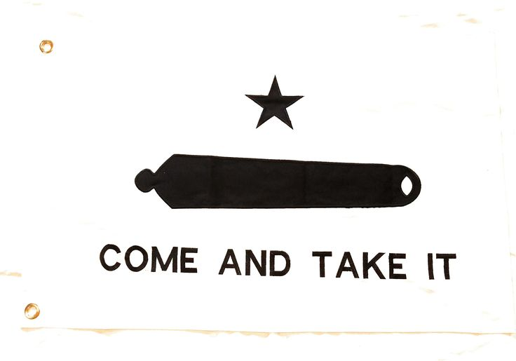 Gonzales 2'x3' Cotton Texas Flag (Come and Take It)