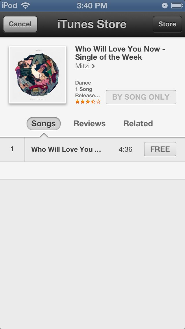 iTunes - make a purchase