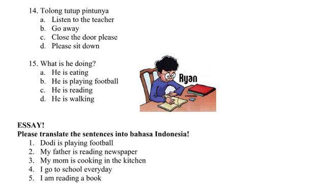 Soal Essay Bahasa Inggris Kelas 8