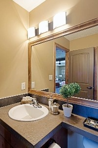 Our bathroom is stocked with Ultra Purex bathroom tissue and exclusive mint and citrus infused spa bath amenities
