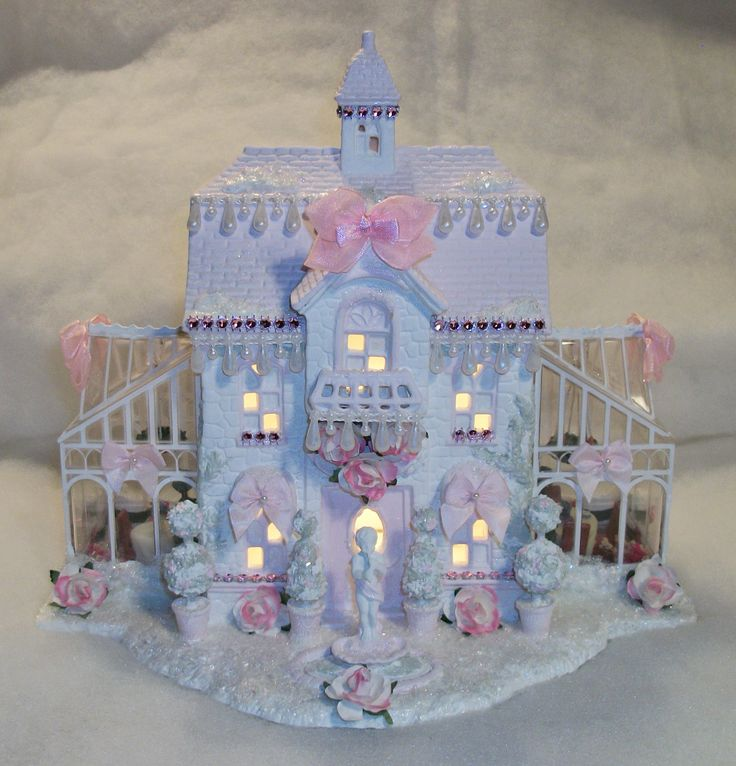 Shabby Chic Victorian Style Christmas Village House
