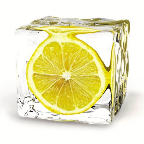 DIY Lemon Ice...add a little class to your sodas, drinks for the holidays, showers, weddings, parties, entertaining, etc.(pic only)
