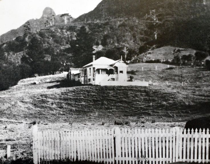 The second house of the Turner family. Their second house built in 1905, after the first burned down, was built further up the hill. This house burned down when occupied by the Gordons. House fires were common in wooden houses lit by candles and lamps and warmed by open fires.