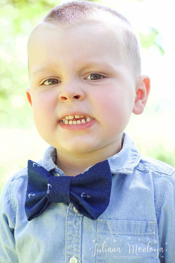 Toddler Bow Tie Denim Bow Ties Anchor Bow Tie Boys Bow Tie