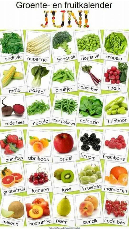 De lekkerste groentes en fruit van de maand juni