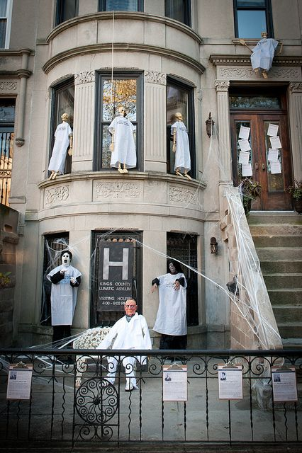 brooklyn limestone halloween decor reveal welcome to the asylum