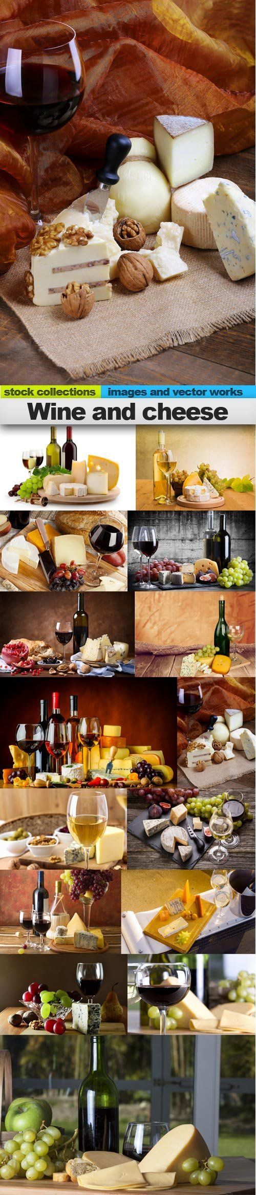 Wine and cheese, 15 x UHQ JPEG
