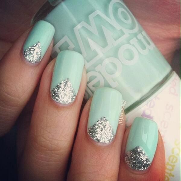 Apple Pie By Bowful Via Robin S S Anderson Own Twitter I Like To Think Its A Grown Up Peppermint Patty With A Vajaz Green Nails Mint Nails Mint Green Nails
