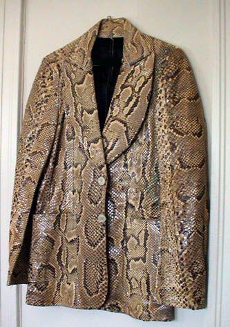 Snakeskin Jacket Clothing Stage Wear Pinterest