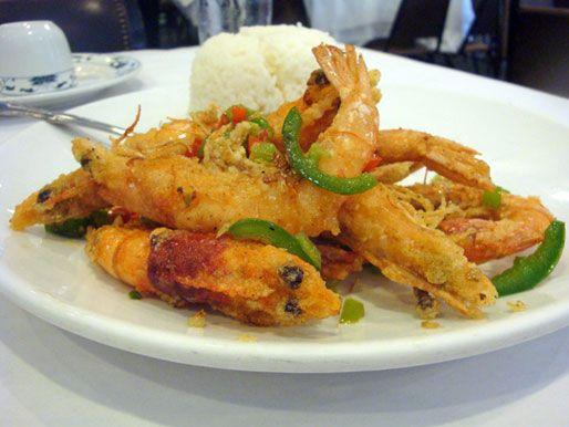Salt and pepper shrimp plain and simple - a little Louisiana Crystal ...