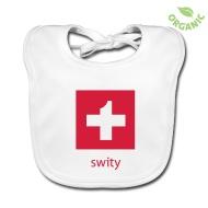 En Guete – Bon Appetit – Mahlzeit !  Accessoires ~ Baby Bio-Lätzchen ~ Swiss Cross Bite - Baby-Lätzchen Bio