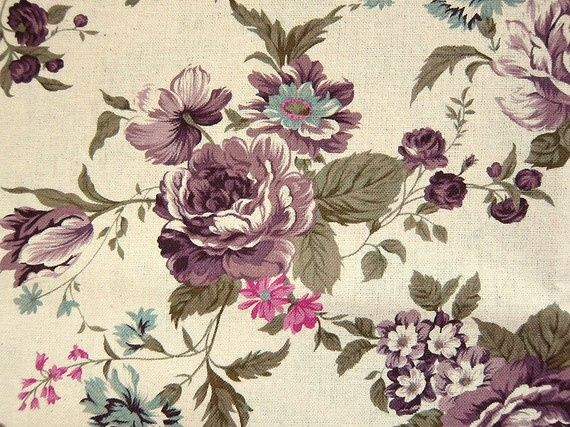antique flower tattoo | Pretty vintage floral fabric. | Tattoo Ideas