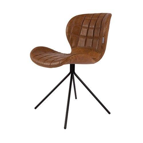 Stoel OMG lederlook van Zuiver is super comfortabel en prachtig te combineren met de andere OMG stoelen!   Materiaal: polyester, 100% PU en stalen poten Maximaal draaggewicht: 120KG Stoelen zijn per 2 verpakt  Genoemde prijs is set prijs, artikel wordt per 2 geleverd.