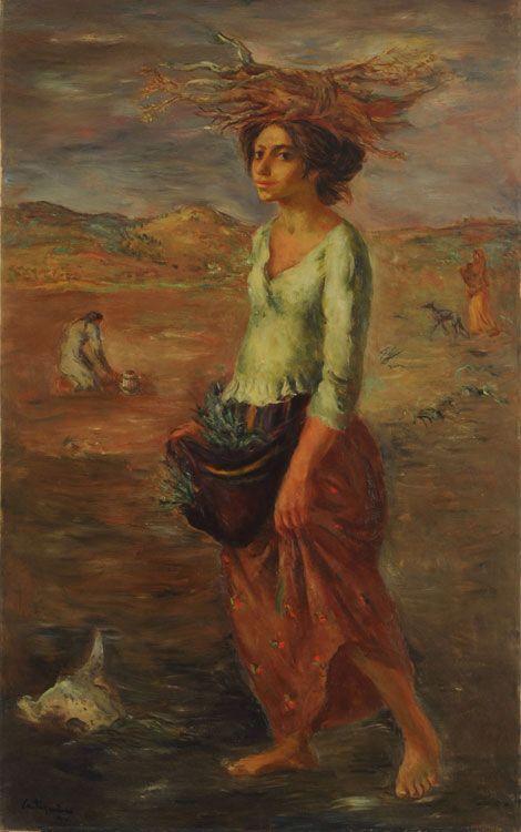 """""""La mujer del páramo"""" óleo (1944)"""