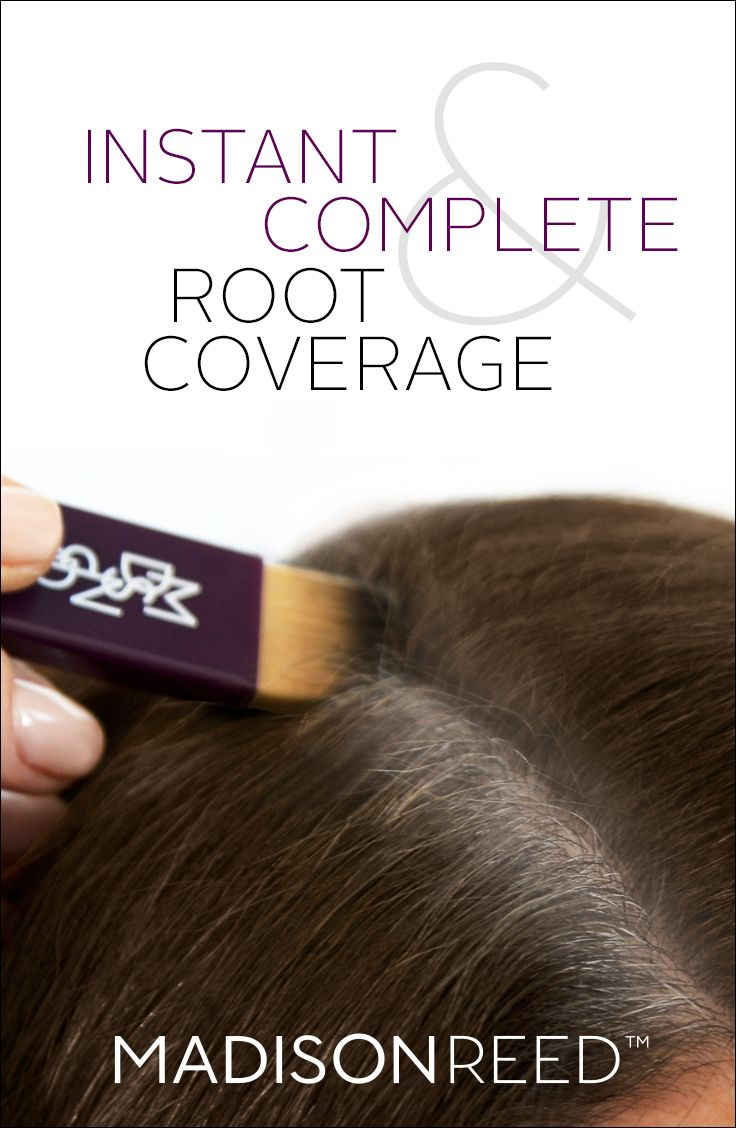 Conceal roots completely with Root Touch Up from Madison Reed. It's a powder based, water & pillow resistant formula that stays in until you shampoo out, and is perfect to hold you over between colorings.