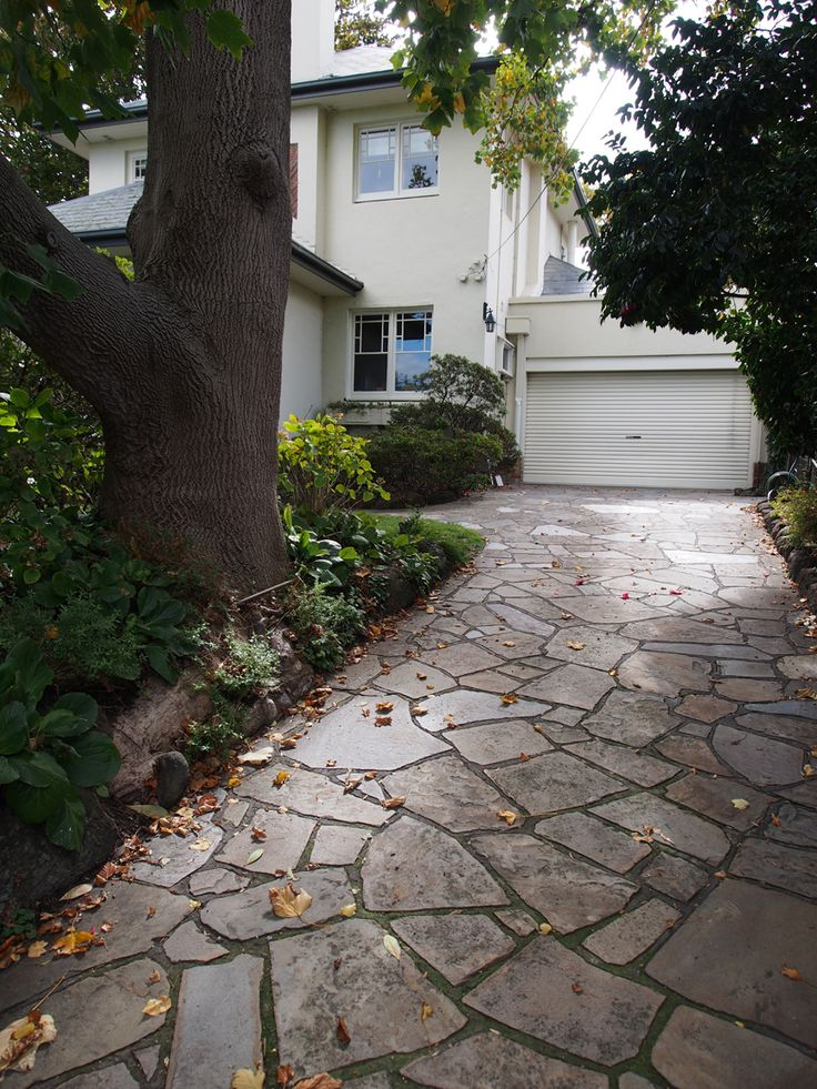 This random crazy #stone #driveway has developed a #natural patina over time which further enhances its beauty.