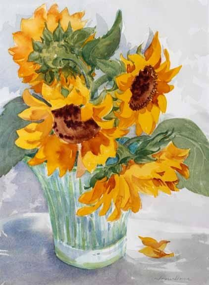 Joyce Howe I can't decide which of these sunflower paintings I like the best! All beautifully done! Janet Kruskamp