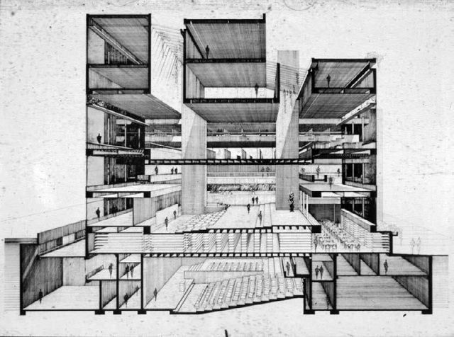 A Selection of Paul Rudolph's Perspective Sections