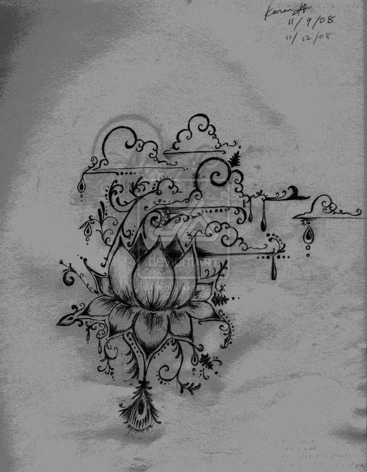Deviant Art: Lotus henna style tattoo by Pyrogurlchaos.