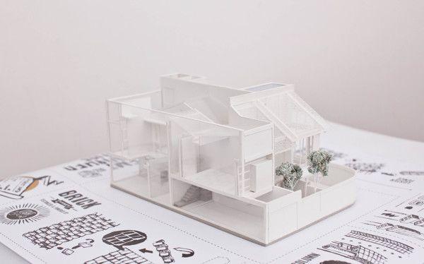 Semi Finished House by butawarna, via Behance