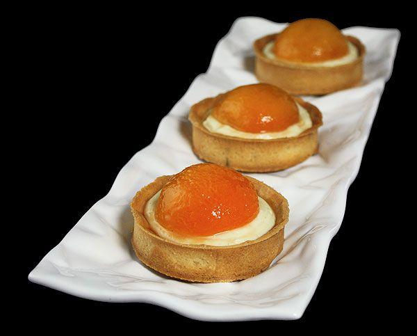 Apricot Tarts with Amaretto-Crème Chiboust