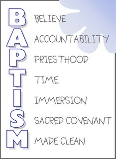 Baptism Talk. (or print, and frame or make as a card for baptism)