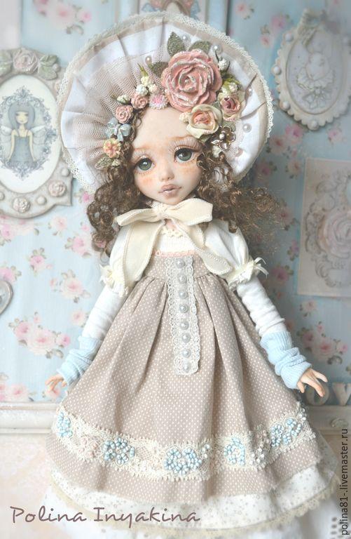 Купить Селестина - кремовый, кукла ручной работы, кукла в подарок, кукла, кукла интерьерная