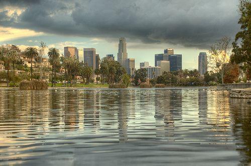 Los Angeles Skyline Photo Album: Downtown Skyline from Echo Park