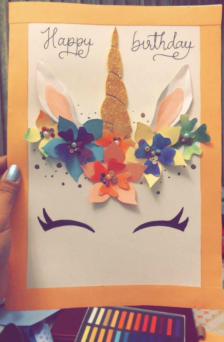 Unicorn birthday card Birthday cards diy, Unicorn card