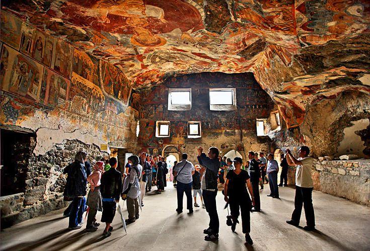 Inside Sumela Monastery - Sumela Monastery, Trabzon