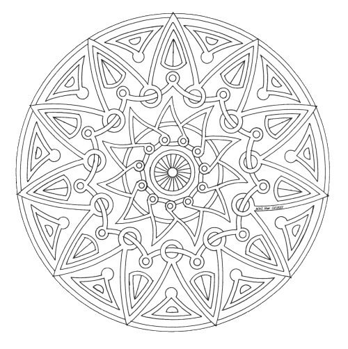 mandala_251 Free coloring pages for adult and teens