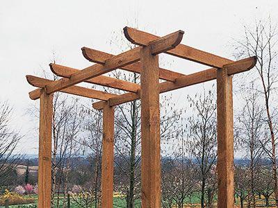 Build freestanding pergola