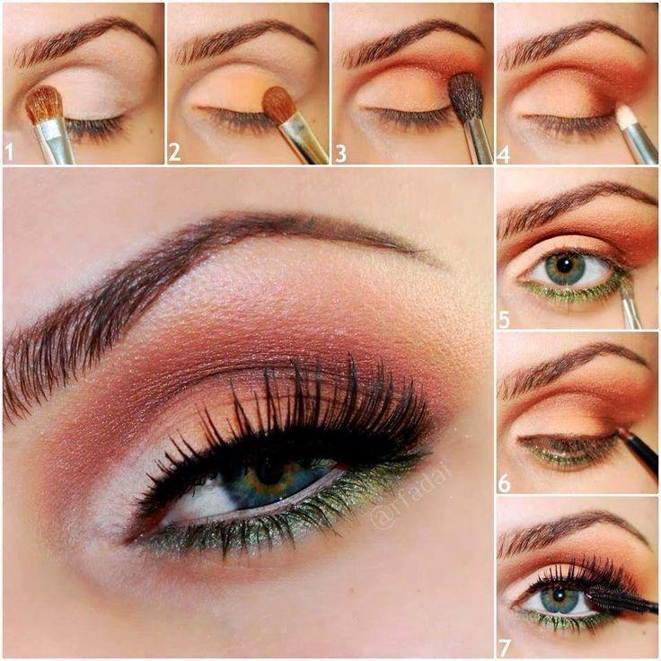 Maquillaje de ojos azules o celeste