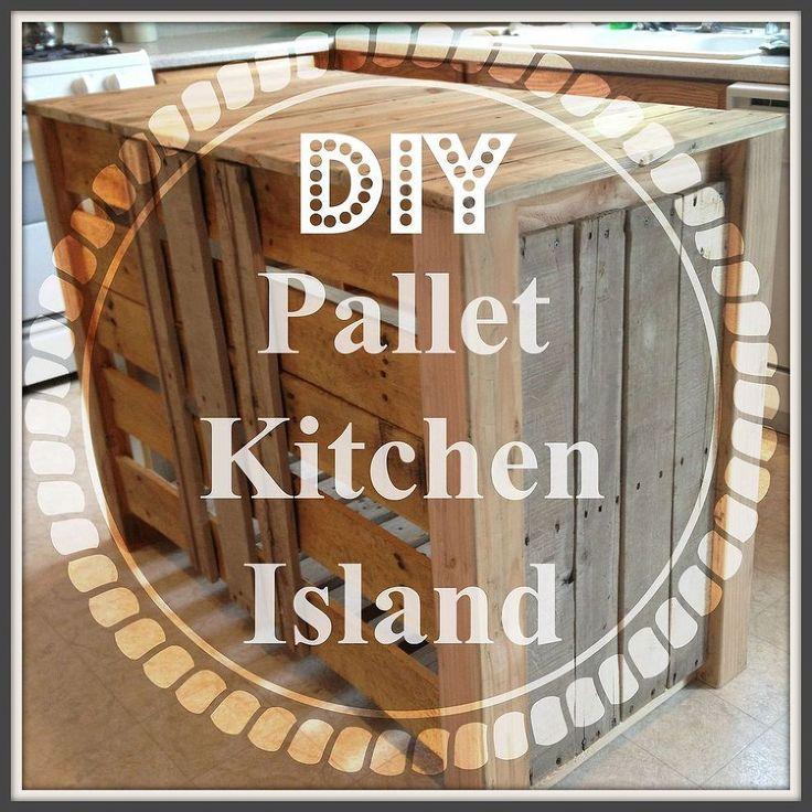 Pallet kitchen island kitchen islands and diy pallet on pinterest
