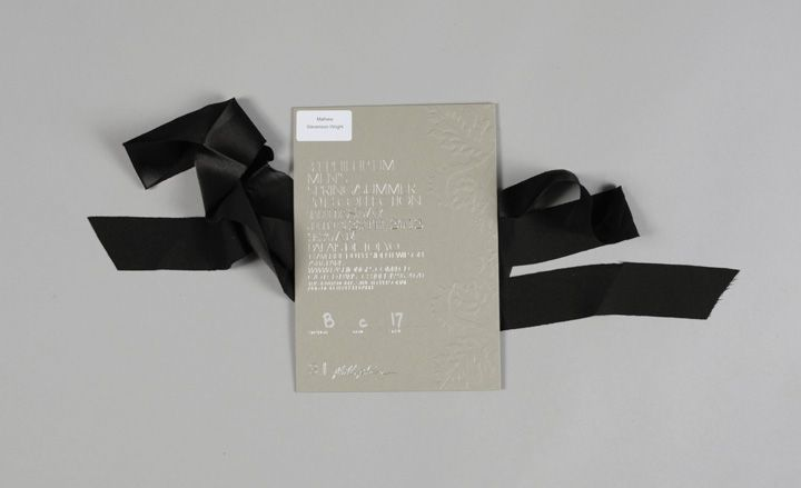 Men's fashion week S/S 2013 show invitations