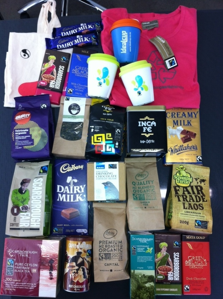Some NZ Fairtrade products to eat, drink, drink out of and wear.