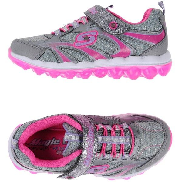SKECHERS Sneakers ❤ liked on Polyvore featuring shoes, sneakers, skechers shoes, skechers sneakers, skechers trainers, skechers footwear and skechers