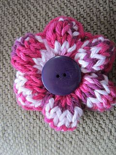 Simple knit flower.