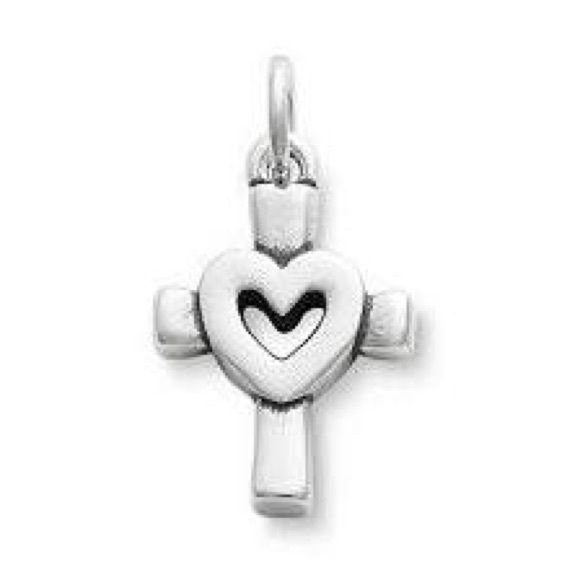 JAMES AVERY HEART CROSS CHARM Cross with heart inside. Authentic. 10/10 condition Jewelry Bracelets